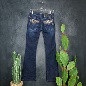 Miss Me Jeans - Miss Me Extra Bling Flap Pocket Dark Jeans    I380